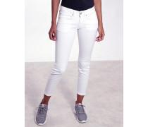 Faye Skinny Fit Jeans in weiß mit verkürzter Beinlänge