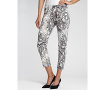 Amelie Cropped Relaxed Fit Jeans Animal Print