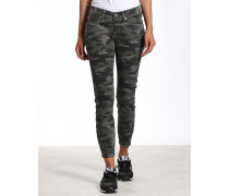 Gang Faye Skinny Fit Cropped Camouflage Jeans