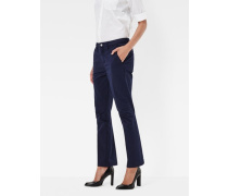 Bronson Mid Waist 3D Cropped Flare Chino