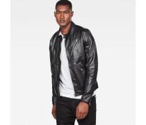 Empral Deconstructed Leather Biker Jacket