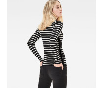 Iria Stripe Turtleneck Slim Knit Pullover