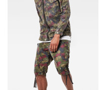 Rovic Camo Deconstructed Loose 1/2-Length Shorts