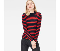 Exly Stripe Slim Knit Pullover