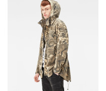 Batt Hooded Short Loose Parka