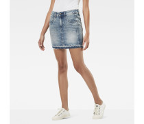 Arc Ripped Long Mini Skirt