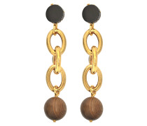 Ohrringe aus Holz mit Kristallen