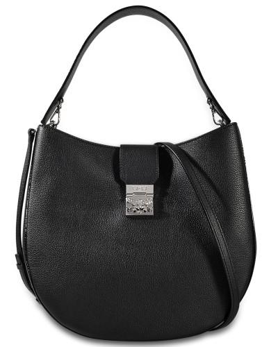 225f0a60f1989 MCM Damen Patricia Hobo Large Tasche aus schwarzem Park Avenue Leder Günstig  Kaufen Neue V6xB48U