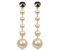 Longues Ohrringe Pearls aus Harz mit Kristallen