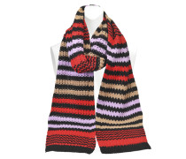 STRIPED WOOL SCARF 25X215