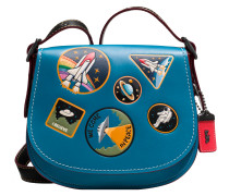 Schultertasche Saddle bag 23 Space patches; Schultertasche Saddle 23 embossée Rexy