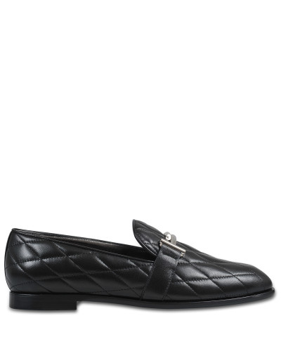 Quilted logo loafer