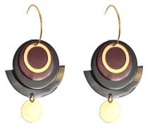 Ohrringe Circle aus Horn und Kristallen