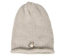 Mütze aus Kaschmir mit Perle
