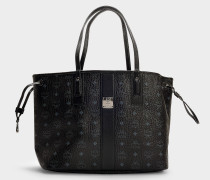 Shopper Project Visetos Reversible Shopper Medium bag in Black Coated Canvas