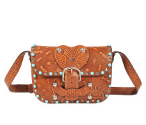 Rockstud Rolling Santeria embossed crossbody bag