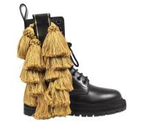 Army boots aus Leder mit Quasten