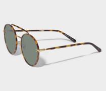 Sunglasses in bio acetate and metal