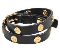 Armband Logo double tour à clous; Armband Double-wrap Logo mit Nieten