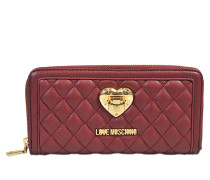 Geldbeutel mit Zip Heart Quilted