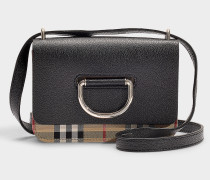 D-ring Mini Tasche aus schwarzem Ziegenleder