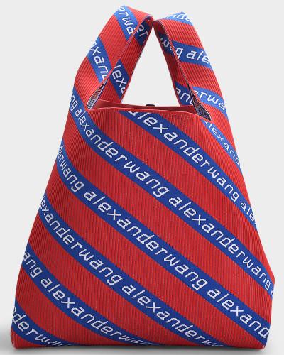 Americana Knit Jacquard Shopper Bag in Multicoloured Jacquard