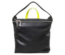 zweifarbige nappa Tasche