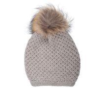 Mütze lang Wolle Kaschmir