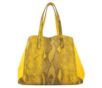 Tasche Shopper Simple Two aus beidseitig tragbarem Kalbsleder mit Python-Print