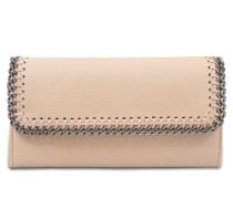 Portemonnaie mit Taschenklappe Falabella aus Shaggy Deer