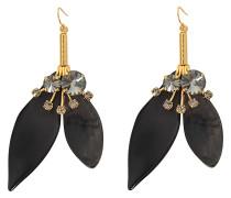 Ohrringe Leaves aus Horn und Kristallen