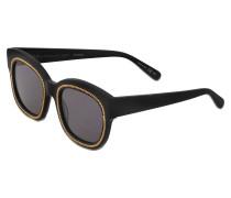 eckige Sonnenbrille mit Kette