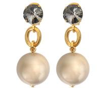 Ohrringe Pearls aus Harz mit Kristallen