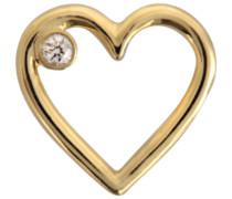 18K Love einzelner Ohrring mit Diamant
