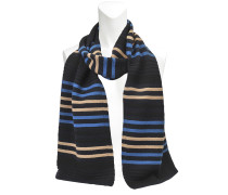 STRIPED WOOL AND LUREX SCARF 30X170
