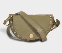 See by Chloé Kriss Belt und Crossbody Mini Shoulder Bag aus Safari Khaki Leder und Wildleder