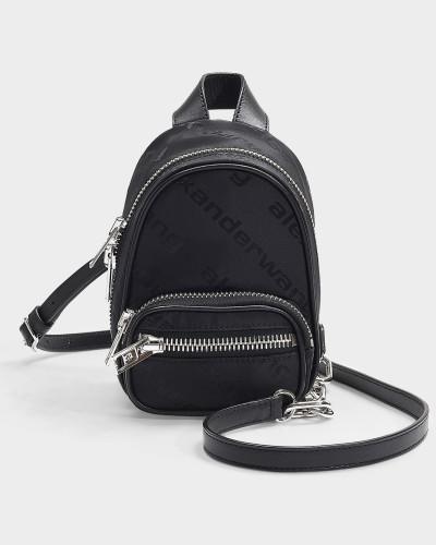 Mini Rucksack Attica Soft mit Logo aus schwarzem Nylon