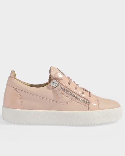 Sneaker May aus rosa Nappaleder