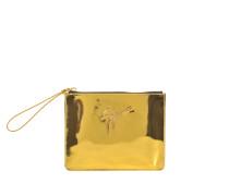gold metallic Tasche mit Reißverschluss
