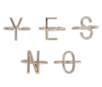 5 Yes No Rings Set