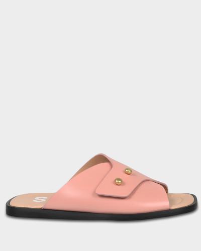 Acne Damen Jilly Schlappen Schuhe aus rosanem Kalbsleder Spielraum Angebote Rabatt Limitierte Auflage Lorol