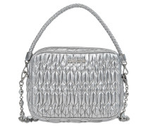 Bandoliera crossbody in metallic leather