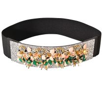 GLITTER FLOWER ELASTIC BELT