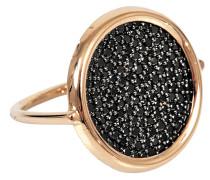 großer schwarzer Ring Diamond Disc