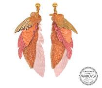 Exklusive Ohrringe L'Iroquoise mit Swarovski-Kristallen