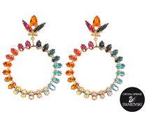 Exklusive Ohrringe Peace Rings mit Swarovski-Kristallen