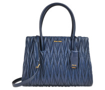 Club tote in quilted nappa leather