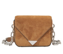 Tasche Prisma Envelope Mini Sling mit Kette aus Veloursleder