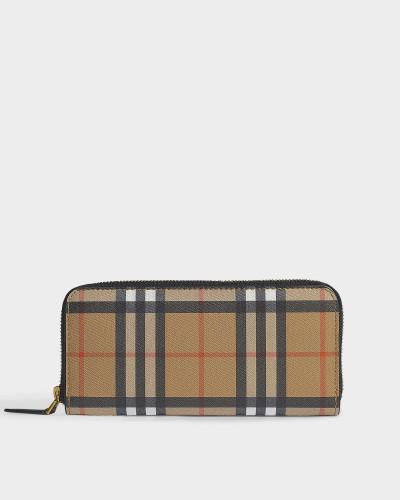 Portemonnaie Zip Ellerby aus schwarzem Kalbsleder