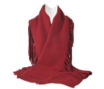 30x180 Solid gestrickter Schal mit Fransen
